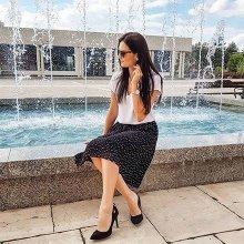 Damen - Neckholder-Kleid - schwarz/weiß geblümt