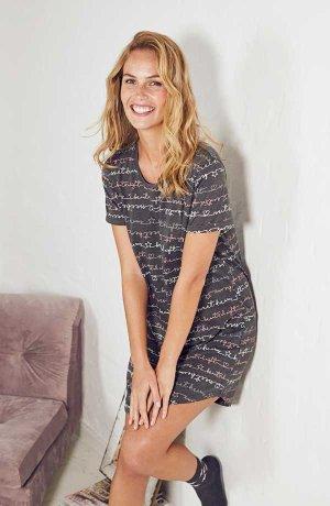 Damen - Nachthemd - multimelange bedruckt