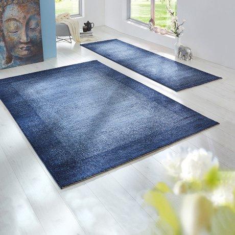 Wohnen & Möbel - Teppich mit Farbverlauf - blau