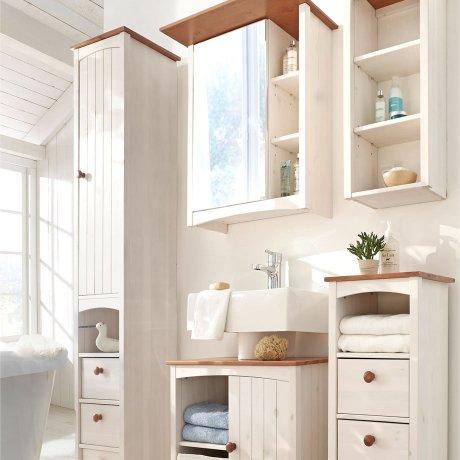 Wohnen & Möbel - Spiegelschrank - weiß