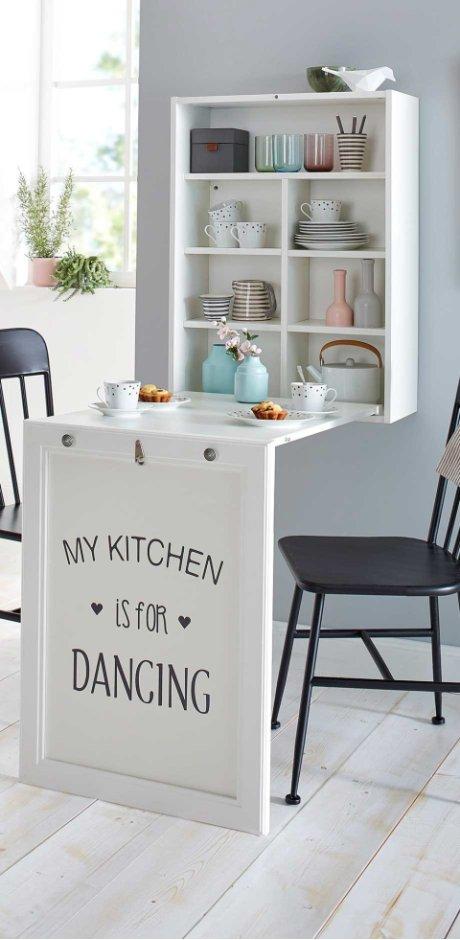 Wohnen & Möbel - Esstisch mit Regal - weiß