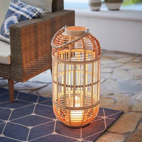 Wohnen & Möbel - Bambus Windlicht - natur