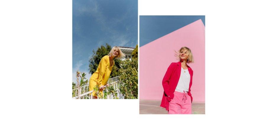 Damen - Blusenkleid - lemoncurry