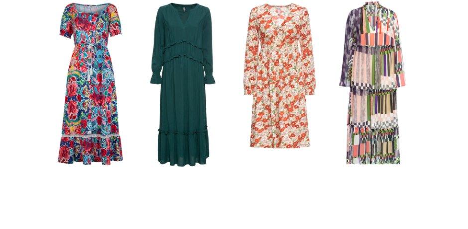 Damen - Shirtkleid im Tropical Design - gemustert