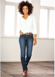 Stretch-Jeans, STRAIGHT, Recycle, John Baner JEANSWEAR, dunkelblau