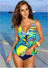 Tankini (2-tlg. Set), bpc selection, blau/gelb