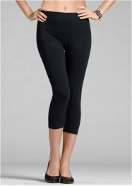 2-pack caprileggings, BODYFLIRT, svart/svart