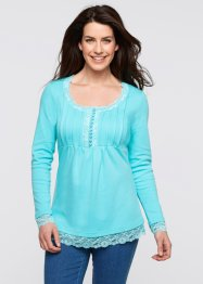 Langarm-Shirt, bpc bonprix collection, aqua