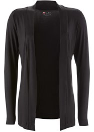 T-Shirtjacke, bpc bonprix collection, schwarz