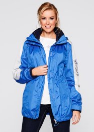 Wetterjacke 3in1, bpc bonprix collection, smaragd/mattsilber bedruckt