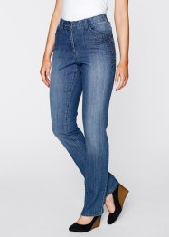 Stretch-Jeans mit Nieten, bpc bonprix collection, blue stone