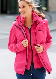 5 in 1 Funktions-Outdoorjacke, bpc bonprix collection, dunkelpink