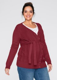 Umstandsstrickjacke, bpc bonprix collection, abendrot
