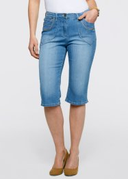 Capri-Stretch-Jeans, bpc bonprix collection, medium blue bleached
