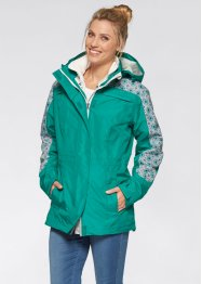 Veste outdoor 3en1, bpc bonprix collection, violet pervenche/argent mat