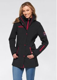 Stretch-Softshelljacke, bpc bonprix collection, schwarz