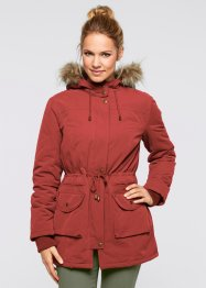 Jacke mit Teddyfell, bpc bonprix collection, ziegelrot
