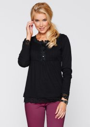 Langarm-Shirt, bpc bonprix collection, schwarz