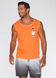 Tank-Top (2er-Pack), bpc bonprix collection, hellgrau meliert+orange