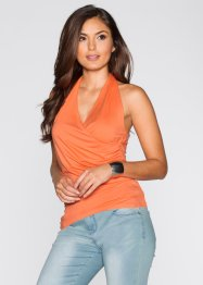 Neckholder-Top, BODYFLIRT, orange