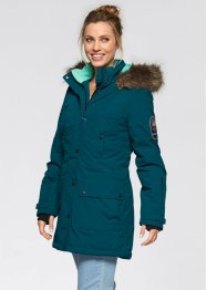 Funktions-Outdoor-Langjacke mit Kapuze, bpc bonprix collection, blaupetrol