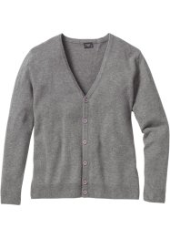 Strickjacke Regular Fit, bpc bonprix collection, grau meliert