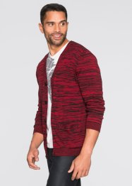 Gilet en maille Regular Fit, RAINBOW, noir/rouge foncé chiné