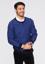 Pull Regular Fit, bpc selection, bleu foncé/bleu saphir chiné