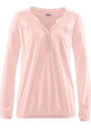 Langärmlige Shirtbluse, bpc bonprix collection, zartrosa
