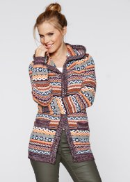Strickjacke mit Kapuze, bpc bonprix collection, gemustert