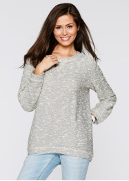 Oversize-Sweatshirt, bpc bonprix collection, grau meliert