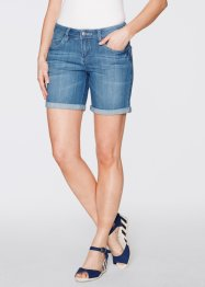 Jeansshorts, John Baner JEANSWEAR, medium blue bleached used
