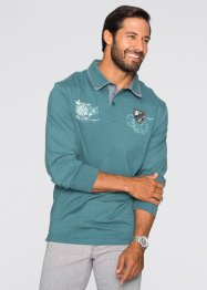 Langarmpoloshirt Regular Fit, bpc selection, weinbeere