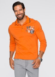 Langarmpoloshirt im Regular Fit, bpc selection, orange
