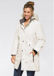 Outdoor-Langjacke, bpc bonprix collection, schiefergrau