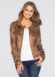 Veste imitation cuir velours, RAINBOW, marron used