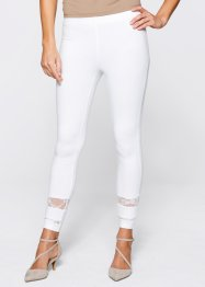 Leggings mit Spitze, bpc selection, weiß
