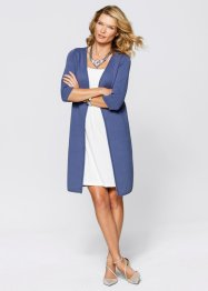 Premium Long-Cardigan aus Pima-Cotton, bpc selection premium, indigo