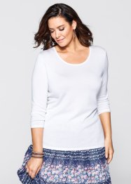 Pullover mit Spitze, bpc selection, puderrosa