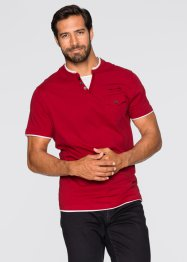 T-Shirt Regular Fit, bpc bonprix collection, dunkelrot