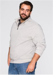 Herren Sweatshirt, Regular Fit, bpc bonprix collection, hellgrau meliert