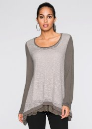 Shirt in Strickoptik, BODYFLIRT, taupe