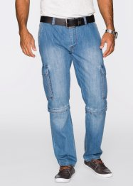 Zipp-Off Cargojeans Regular Fit Straight, John Baner JEANSWEAR, hellblau used