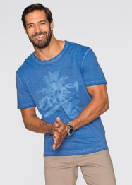 T-Shirt Regular Fit, bpc bonprix collection, blau