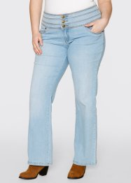 "Stretchjeans ""Platt mage-bootcut"", John Baner JEANSWEAR, blue bleached used"