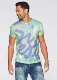 T-Shirt Slim Fit, RAINBOW, bedruckt