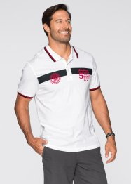 Poloshirt Regular Fit, bpc bonprix collection, weiss