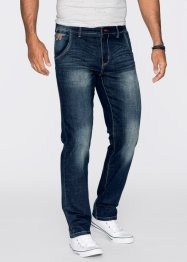 Stretchjeans Regular Fit Straight, John Baner JEANSWEAR, dunkelblau used