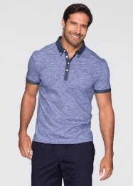 Poloshirt Regular Fit, bpc bonprix collection, blau/weiss meliert