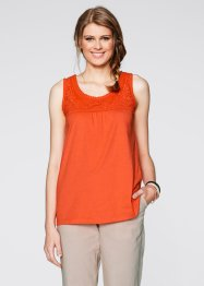 Top, bpc bonprix collection, mandarinrot